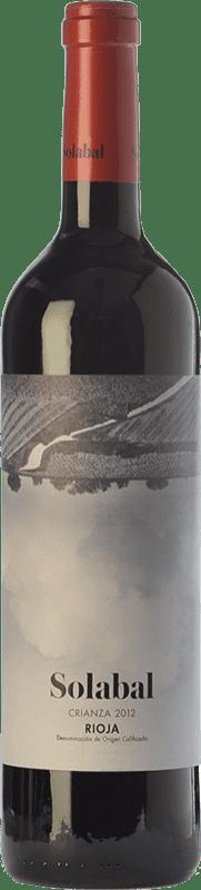 9,95 € Free Shipping | Red wine Solabal Crianza D.O.Ca. Rioja The Rioja Spain Tempranillo Bottle 75 cl