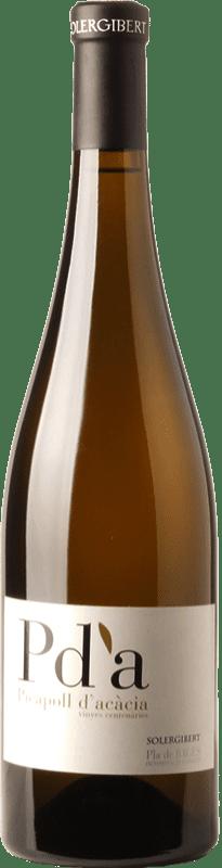 16,95 € Free Shipping | White wine Solergibert Pda Picapoll d'Acàcia Vinyes Centenàries Crianza D.O. Pla de Bages Catalonia Spain Picapoll Bottle 75 cl