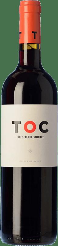 6,95 € Free Shipping | Red wine Solergibert Toc Crianza D.O. Pla de Bages Catalonia Spain Merlot, Cabernet Sauvignon Bottle 75 cl