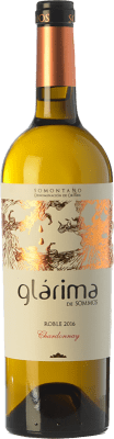 6,95 € Envío gratis | Vino blanco Sommos Glárima Crianza D.O. Somontano Aragón España Chardonnay Botella 75 cl