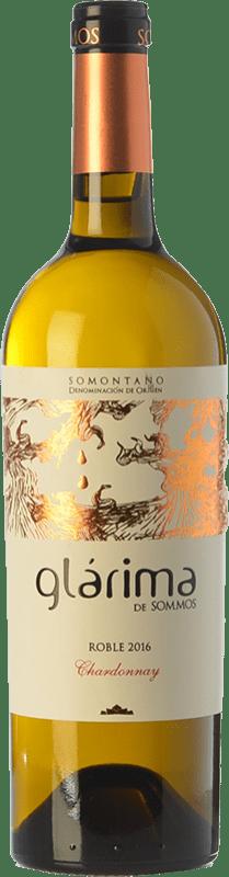 6,95 € Free Shipping | White wine Sommos Glárima Crianza D.O. Somontano Aragon Spain Chardonnay Bottle 75 cl
