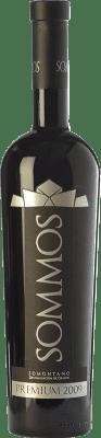 33,95 € Envío gratis | Vino tinto Sommos Premium Crianza D.O. Somontano Aragón España Tempranillo, Merlot, Syrah Botella 75 cl