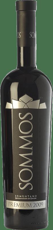 33,95 € Free Shipping | Red wine Sommos Premium Crianza D.O. Somontano Aragon Spain Tempranillo, Merlot, Syrah Bottle 75 cl
