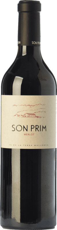 22,95 € Envío gratis | Vino tinto Son Prim Crianza I.G.P. Vi de la Terra de Mallorca Islas Baleares España Merlot Botella 75 cl