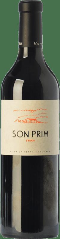 15,95 € Envío gratis | Vino tinto Son Prim Crianza I.G.P. Vi de la Terra de Mallorca Islas Baleares España Syrah Botella 75 cl