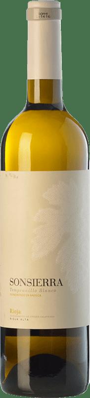 8,95 € Envoi gratuit | Vin blanc Sonsierra Crianza D.O.Ca. Rioja La Rioja Espagne Tempranillo Blanc Bouteille 75 cl
