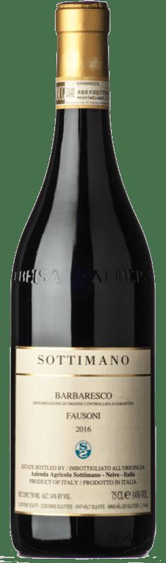 81,95 € Envoi gratuit | Vin rouge Sottimano Fausoni D.O.C.G. Barbaresco Piémont Italie Nebbiolo Bouteille 75 cl