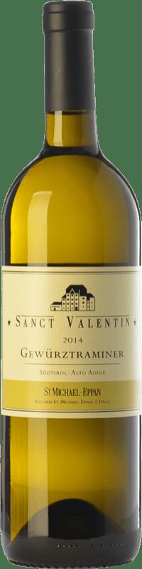 27,95 € Envío gratis | Vino blanco St. Michael-Eppan Sanct Valentin D.O.C. Alto Adige Trentino-Alto Adige Italia Gewürztraminer Botella 75 cl