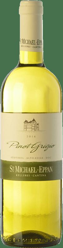 11,95 € Envío gratis | Vino blanco St. Michael-Eppan Pinot Grigio D.O.C. Alto Adige Trentino-Alto Adige Italia Pinot Gris Botella 75 cl