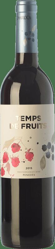 9,95 € Free Shipping | Red wine Sumarroca Temps de Fruits Joven D.O. Penedès Catalonia Spain Merlot, Syrah, Cabernet Franc, Carmenère Bottle 75 cl