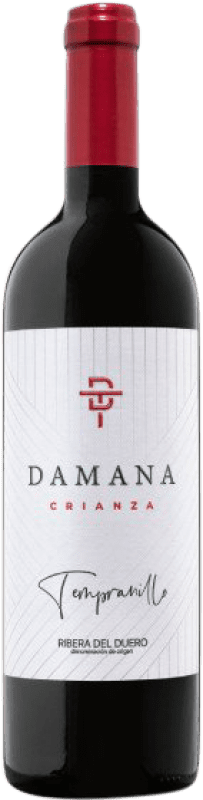 16,95 € Free Shipping | Red wine Tábula Damana Crianza D.O. Ribera del Duero Castilla y León Spain Tempranillo, Merlot, Cabernet Sauvignon Bottle 75 cl