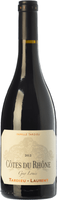 15,95 € Envío gratis | Vino tinto Tardieu-Laurent Guy Louis Crianza A.O.C. Côtes du Rhône Rhône Francia Syrah, Garnacha Botella 75 cl