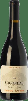 49,95 € Envío gratis | Vino tinto Tardieu-Laurent Vieilles Vignes Reserva A.O.C. Gigondas Rhône Francia Garnacha, Mourvèdre Botella 75 cl