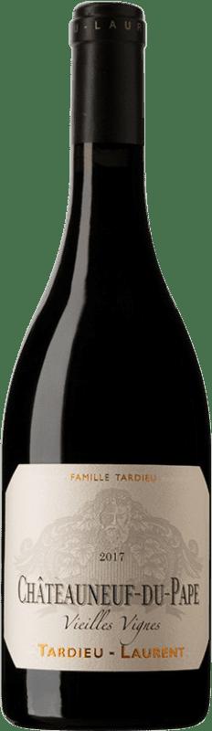 93,95 € Envío gratis | Vino tinto Tardieu-Laurent Vieilles Vignes Reserva 2008 A.O.C. Châteauneuf-du-Pape Rhône Francia Syrah, Garnacha, Mourvèdre Botella 75 cl