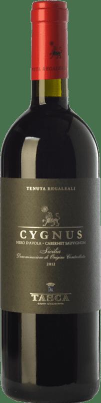 12,95 € Free Shipping | Red wine Tasca d'Almerita Cygnus I.G.T. Terre Siciliane Sicily Italy Cabernet Sauvignon, Nero d'Avola Bottle 75 cl