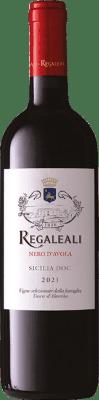 11,95 € Free Shipping | Red wine Tasca d'Almerita Regaleali I.G.T. Terre Siciliane Sicily Italy Nero d'Avola Bottle 75 cl