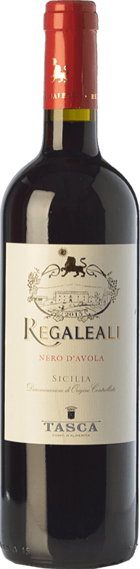 9,95 € Free Shipping | Red wine Tasca d'Almerita Regaleali I.G.T. Terre Siciliane Sicily Italy Nero d'Avola Bottle 75 cl