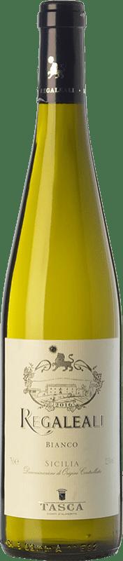 9,95 € Envío gratis | Vino blanco Tasca d'Almerita Regaleali Bianco I.G.T. Terre Siciliane Sicilia Italia Chardonnay, Insolia, Grecanico Dorato, Catarratto Botella 75 cl