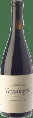 18,95 € Free Shipping | Red wine Tayaimgut Hort de les Canyes Crianza D.O. Penedès Catalonia Spain Merlot, Cabernet Sauvignon Bottle 75 cl
