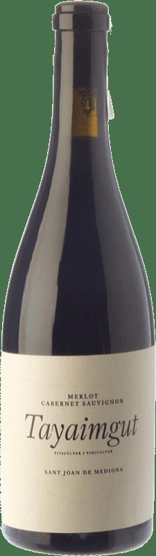 15,95 € Envoi gratuit | Vin rouge Tayaimgut Hort de les Canyes Crianza D.O. Penedès Catalogne Espagne Merlot, Cabernet Sauvignon Bouteille 75 cl