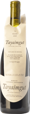 8,95 € Free Shipping | Red wine Tayaimgut Negre Crianza D.O. Penedès Catalonia Spain Merlot, Cabernet Sauvignon Bottle 75 cl