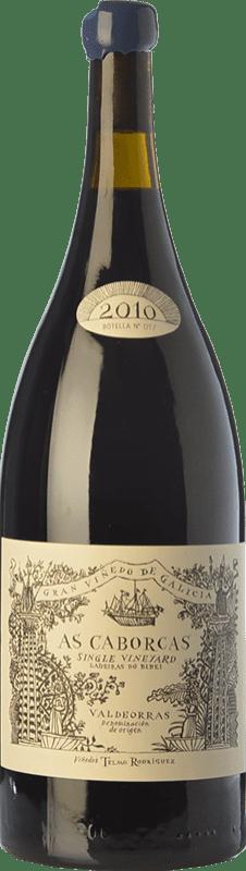 159,95 € Free Shipping | Red wine Telmo Rodríguez As Caborcas Crianza 2010 D.O. Valdeorras Galicia Spain Grenache, Mencía, Sousón, Godello, Merenzao Magnum Bottle 1,5 L