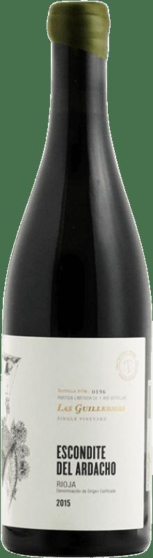 39,95 € Envío gratis | Vino tinto Tentenublo Escondite del Ardacho Las Guillermas Crianza D.O.Ca. Rioja La Rioja España Tempranillo, Viura Botella 75 cl