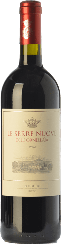 53,95 € Envío gratis | Vino tinto Ornellaia Le Serre Nuove D.O.C. Bolgheri Toscana Italia Merlot, Cabernet Sauvignon, Cabernet Franc, Petit Verdot Botella 75 cl