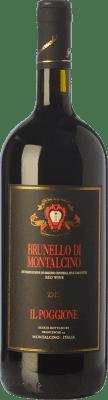 38,95 € Kostenloser Versand | Rotwein Il Poggione D.O.C.G. Brunello di Montalcino Toskana Italien Sangiovese Magnum-Flasche 1,5 L