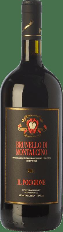 38,95 € Free Shipping | Red wine Il Poggione D.O.C.G. Brunello di Montalcino Tuscany Italy Sangiovese Magnum Bottle 1,5 L