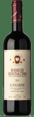 22,95 € Kostenloser Versand | Rotwein Il Poggione D.O.C. Rosso di Montalcino Toskana Italien Sangiovese Flasche 75 cl