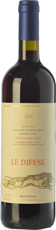 19,95 € Free Shipping | Red wine San Guido Le Difese I.G.T. Toscana Tuscany Italy Cabernet Sauvignon, Sangiovese Bottle 75 cl
