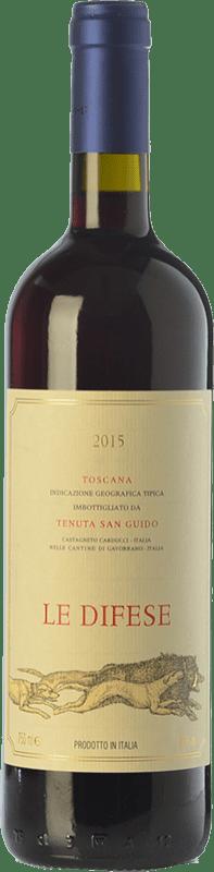 19,95 € Envío gratis | Vino tinto San Guido Le Difese I.G.T. Toscana Toscana Italia Cabernet Sauvignon, Sangiovese Botella 75 cl