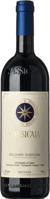 315,95 € Kostenloser Versand | Rotwein San Guido Sassicaia D.O.C. Bolgheri Toskana Italien Cabernet Sauvignon, Cabernet Franc Flasche 75 cl