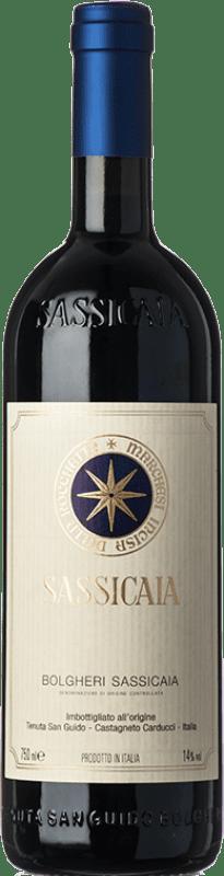 315,95 € Envío gratis | Vino tinto San Guido Sassicaia D.O.C. Bolgheri Toscana Italia Cabernet Sauvignon, Cabernet Franc Botella 75 cl