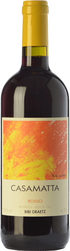 9,95 € Free Shipping | Red wine Bibi Graetz Casamatta Rosso I.G.T. Toscana Tuscany Italy Sangiovese Bottle 75 cl