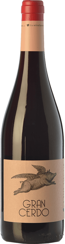 6,95 € Free Shipping | Red wine Wine Love Gran Cerdo Joven Spain Tempranillo, Graciano Bottle 75 cl