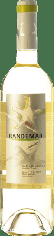 6,95 € Envío gratis | Vino blanco Tianna Negre Randemar Blanc D.O. Binissalem Islas Baleares España Moscatel, Chardonnay, Pensal Blanca Botella 75 cl