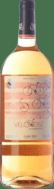 12,95 € Free Shipping | Rosé wine Tianna Negre Vélorosé D.O. Binissalem Balearic Islands Spain Mantonegro Magnum Bottle 1,5 L