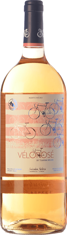 12,95 € Envío gratis | Vino rosado Tianna Negre Vélorosé D.O. Binissalem Islas Baleares España Mantonegro Botella Mágnum 1,5 L