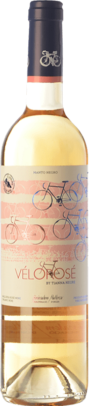 14,95 € Envío gratis | Vino rosado Tianna Negre Vélorosé D.O. Binissalem Islas Baleares España Mantonegro Botella 75 cl