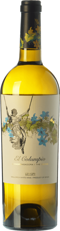 9,95 € Envío gratis | Vino blanco Tianna Negre Ses Nines El Columpio Blanc D.O. Binissalem Islas Baleares España Moscatel, Chardonnay, Sauvignon Blanca, Premsal, Giró Ros Botella 75 cl