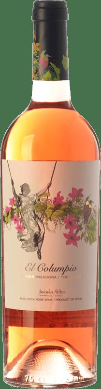 11,95 € Free Shipping | Rosé wine Tianna Negre Ses Nines El Columpio Rosat D.O. Binissalem Balearic Islands Spain Syrah, Mantonegro Bottle 75 cl