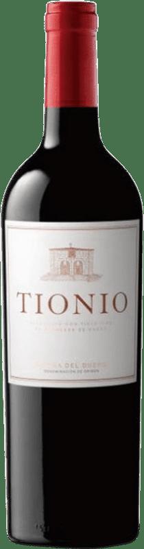 15,95 € Envoi gratuit | Vin rouge Tionio Crianza D.O. Ribera del Duero Castille et Leon Espagne Tempranillo Bouteille 75 cl