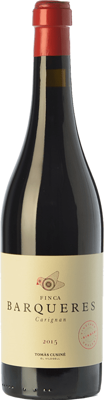 22,95 € Free Shipping | Red wine Tomàs Cusiné Finca Barqueres Crianza D.O. Costers del Segre Catalonia Spain Carignan Bottle 75 cl