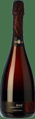 11,95 € Kostenloser Versand | Rosé Sekt Torelló Rosé Brut Reserva D.O. Cava Katalonien Spanien Grenache, Monastrell Flasche 75 cl