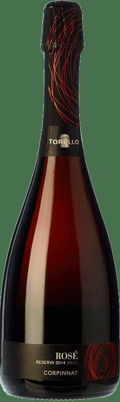 12,95 € Free Shipping | Rosé sparkling Torelló Rosé Brut Reserva D.O. Cava Catalonia Spain Grenache, Monastrell Bottle 75 cl