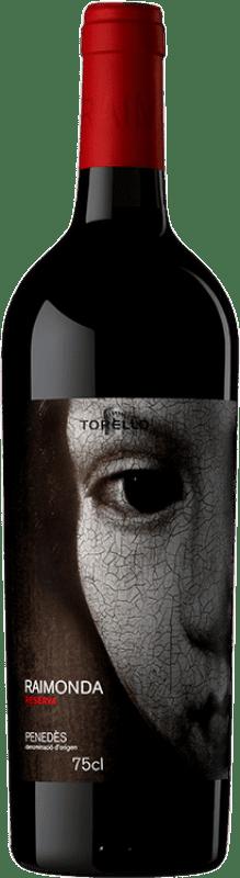14,95 € Envoi gratuit | Vin rouge Torelló Raimonda Reserva D.O. Penedès Catalogne Espagne Tempranillo, Merlot, Cabernet Sauvignon Bouteille 75 cl