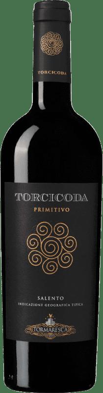17,95 € Free Shipping | Red wine Tormaresca Torcicoda I.G.T. Salento Campania Italy Primitivo Bottle 75 cl