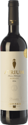 11,95 € Free Shipping | Red wine Torres Atrium Joven D.O. Penedès Catalonia Spain Merlot Bottle 75 cl